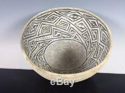 Ancient Anasazi Walnut 1200 AD MINT Black on White Bowl No Reserve