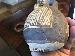 Ancient Antique Native American Indian CHANCAY pottery Bat Effigy POT vessel