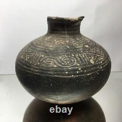 Ancient Native American Arkansas / Mississippian Water Vessel Pottery Terracotta