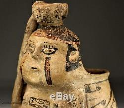 Ancient Native American Casas Grandes Indian Artifact Female Pottery Vase NM