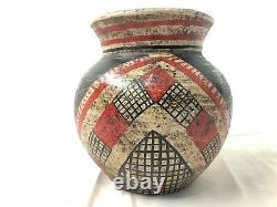 Antique Acoma Pueblo New Mexico Polychrome Early