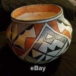 Antique Acoma Pueblo Pottery Olla Native American Indian
