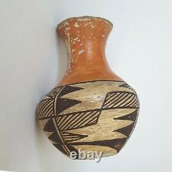 Antique Native American Acoma Pueblo Pottery Vase Signed Early 1900s