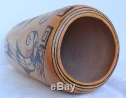 Antique Native American Indian Hopi Pottery Vase Polychrome 11 1/8 X 5 5/8