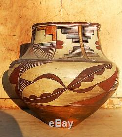 Antique Native American Pot 10 1/2 D 8 3/4 T Acoma Old Indian Pottery