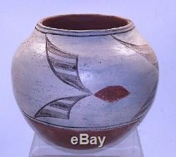 Antique Pueblo Pottery Pot Polychrome Estate Zia  Native American Vessel