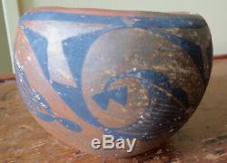 Antique Santa Ana Pueblo Decorated Pottery Bowl Native American