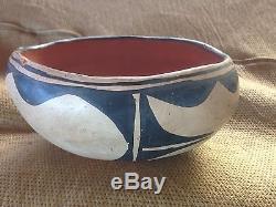Antique Santo Domingo Chili Bowl Pot Pottery Native American DG02
