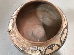 Antique Vintage ZIA PUEBLO TRIOS Olla Pottery 1800s Native American Indian