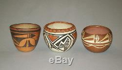 Antique vtg 1900s Grp 13 Native American Indian Pottery Acoma Hopi Zia Bowl Pot