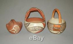 Antique vtg 1900s Grp 13 Native American Indian Pottery Acoma Hopi Zia Bowl Pot