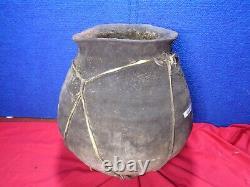 Authentic Large Primitive Native American Jar Pottery Ohio