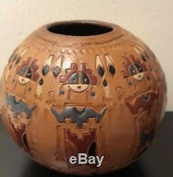 Authentic Native American Navajo Pottery By Ken & Irene White
