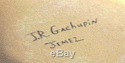 Authentic Native American Pottery Joseph Gachupin CORNMAIDEN Jemez Pueblo