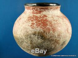 Authentic Solid G-10+ Painted Pottery Jar wt OS COA Indian Arrowheads Artifacts