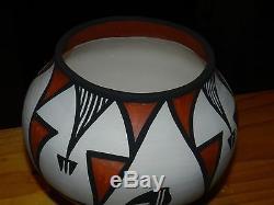 Awesome Polychrome Mary Antonio Garcia Hand Coiled Acoma Olla/free Shippin