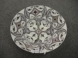 BARBARA AND JOSEPH CERNO Acoma New Mexico Native American Pottery Bowl 1998