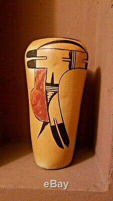 Beautiful Antique Hopi Pueblo Pottery Hano Polychrome Native American Indian