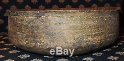 Beautifully Engraved Friendship Bowl Pottery Authentic Indian Artifact