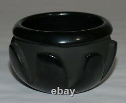 Belen Tapia (1914-1999) Santa Clara Pueblo Native American Carved Black Jar