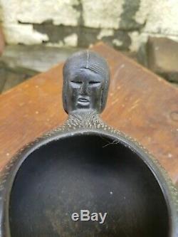 Bigmeat EFFIGY Native American Cherokee Indian Blackware Pot NC POTTERY VASE