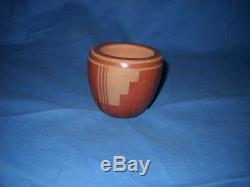 Blue Corn Pottery Red Jar Crucita Calabaza Native American Pueblo Nice
