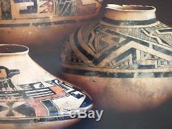 CHERYL ENGLISH Arizona original painting Native American pottery Hopi Tewa NICE