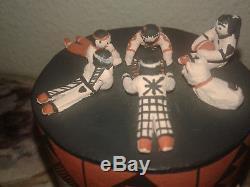 COCHITI PUEBLO POTTERY Native American Drum Storyteller Dena Suina 9 KIDS DOG