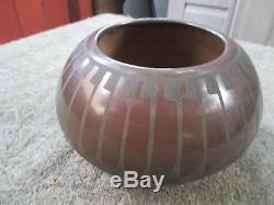 Carlos & Camelita Dunlap Native American San IIdefonso Pottery 7 Signed