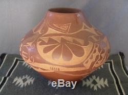 Carmelita Dunlap Native American Pottery Olla, San Ildefonso