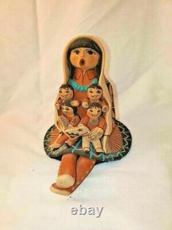 Carol Lucero Gachupin Pottery Storyteller Jemez Pueblo Native American 4.5'' Vtg
