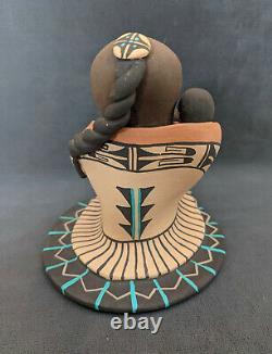 Carol Lucero Gachupin Pottery Storyteller Jemez Pueblo Native American 5'' Vtg