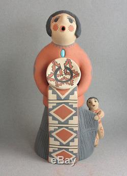 Caroline Fragua Gachupin Jemez Pueblo 8 Inch Storyteller Mother and Child