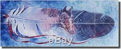 Ceramic Tile Mural Backsplash Morrow Native American Horse 30 x 12 RW-KM002