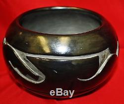 Christina Naranjo Santa Clara Blackware Avanyu Polished Jar