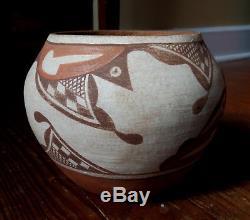 Clara Paquin Santa Ana Pueblo Pottery Polychrome Bowl Signed Native American