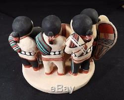 Cochiti Pueblo Nativity Story Teller Quintana 1985 Mary Joseph Sheperds Angel