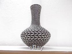 Coiled Acoma Pottery Native American Indian Pueblo Fine Line by Paula Estevan
