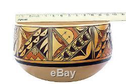 Dee Setalla, Hopi Hand Coiled Pottery, Bowl, 12x 7 1/2