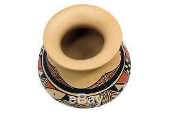 Dee Setalla, Hopi Hand Coiled Pottery, Jar, 6'' x 6 3/8'