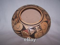 Dee Setalla Hopi Pottery Hand Coiled 8 diameter x 4 high Excellent Condition