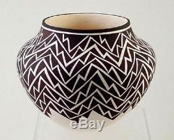 Dramatically Distinctive Acoma Indian Made Pot Pottery by Felicia Patricio