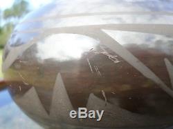 ERIK FENDER SAN ILDEFONSO PUEBLO POTTERY THAN TSIDEH SUNBIRD brown bowl pot