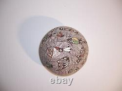 E. Concho Acoma Pueblo Native American Indian Pottery Seed Pot with Lizard Insects