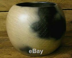 Earl Robbins Catawba Indian Pottery Bowl Vase Native American S. C. With Paperwork