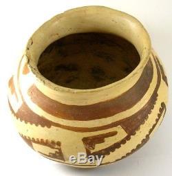 Early Anasazi Hohokam Polichrome Native American Pottery Jar Flared Rim Gila Az