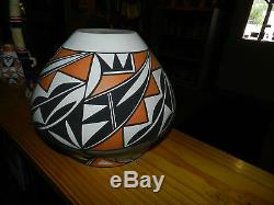 Elegant Large Hand Coiled Acoma Pueblo Olla/loretta Joe/free Shipping