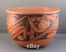 Elvira Naha Nampeyo (b. 1968) Hopi Redware Pottery Bowl