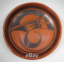 Estate Vintage HOPI Native American Pottery Plate Saucer NPL-10