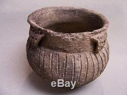 Fine Authentic Kent Incised Mississippian Pottery Jar From St. Francis Co Ark